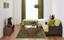 No.165 森のような癒しを感じる部屋の作り方 【ラタン素材+グリーン】
