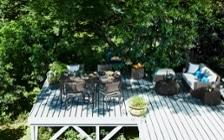 No.182 【別荘・森のテラス編】 軽井沢の自然から生まれたグリーンのインテリアコーディネート:画像1